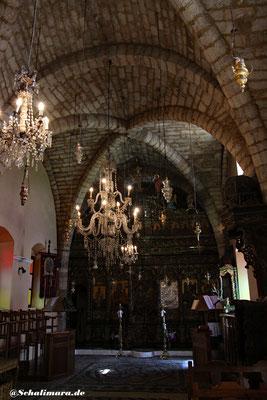 Das seltene Kreuzgewölbe der Kirche Taxiarchis