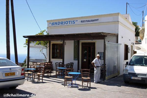 Taverne Andriotis am Ortseingang