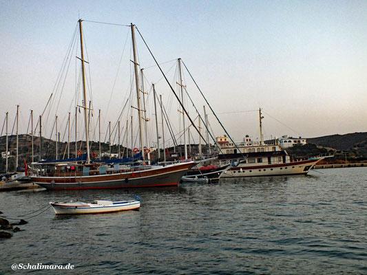 Die Ausflugsboote auf Lipsi