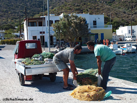 Einsammlung der Fischernetze