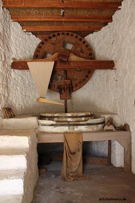 und das Innere der Mühle