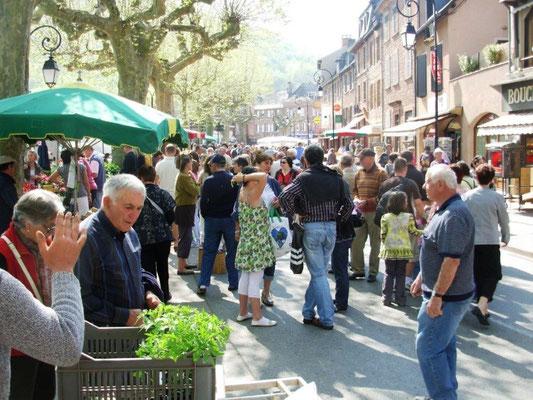 Marcillac-vallon et son marché de producteurs à 4 km du gîte de Montredon à Salles la Source en Aveyron