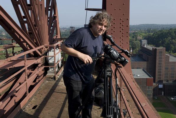 Bei den Dreharbeiten für den Zollverein-Film, August 2008