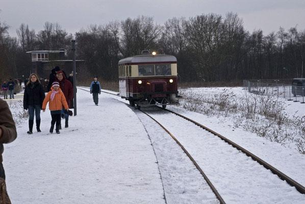 historische Bahn, Zollvereingelände, Januar 2010