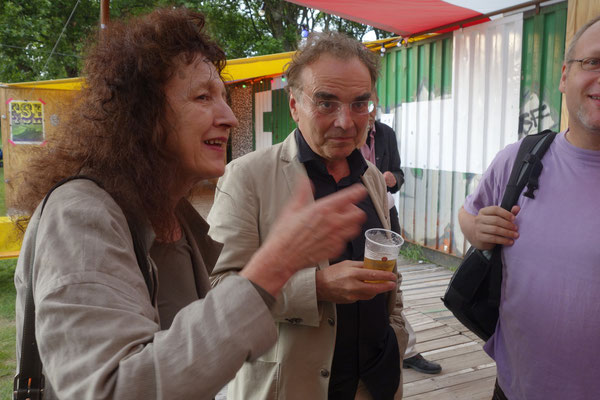 Doris Schöttler-Boll und Peter Friese nach der Eröffnung