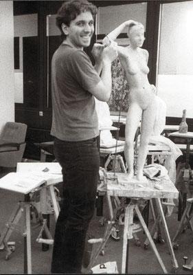 eigene Skulpur, Bildhauerei Universität Essen, 80er Jahre