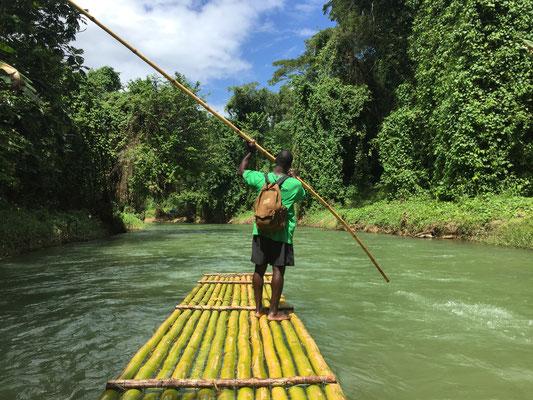 Floßfahrt Trelawny, Jamaica (Foto: Julia Schneider)