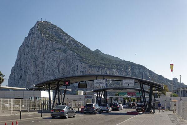 Grenzübergang von Spanien nach Gibraltar