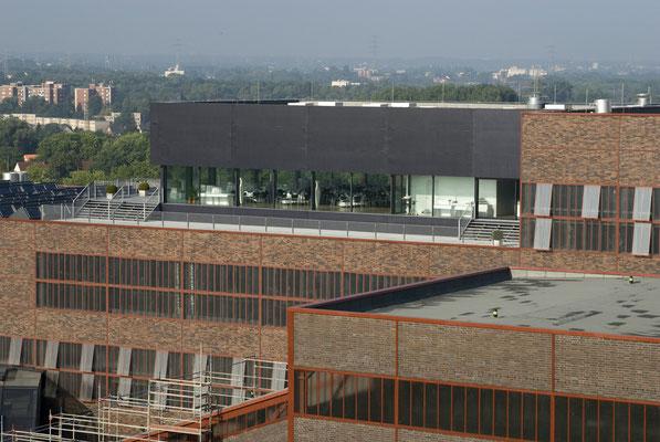 Der neue Veranstaltungssaal auf dem Dach der Kohlenwäsche, August 2008
