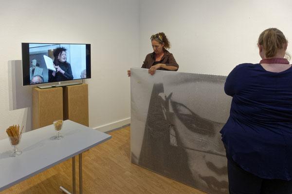 Abbau der Ausstellung