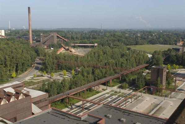 Blick auf die Mischanlage der Kokerei Zollverein (links im Hintergrund), August 2008