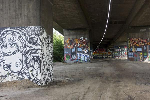 Brücke der A42 über die Vogelheimer Straße, Juni 2016