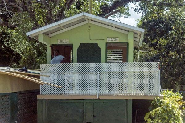 Toilettenhäuschen, Trelawny, Jamaica
