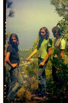 Diakopton, Peloponnes, 1976 v.l.n.r.: Louis, Reinhard, Erwin Wiemer