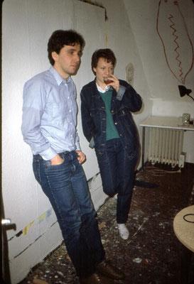 Bei den Vorbereitungen mit Jutta, 1986