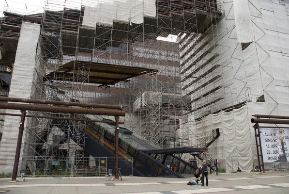 Restaurierungsarbeiten am Kokskohlenbunker, Mai 2008