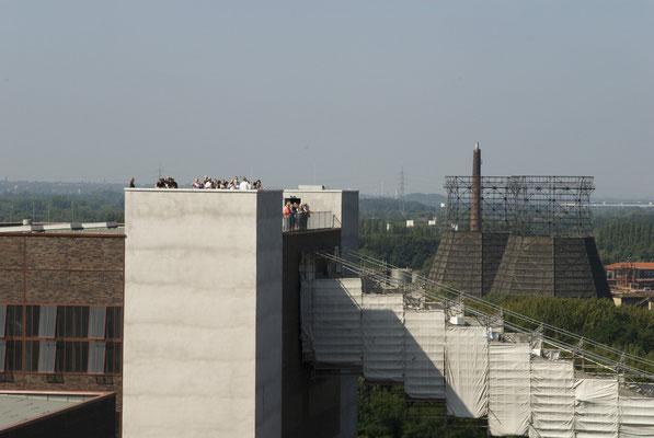 Aussichtspunkt auf dem Dach der Kohlenwäsche, August 2008