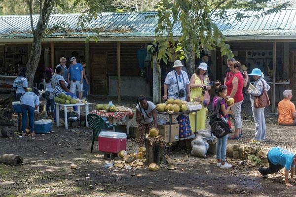 Touristen in Altun Ha, Belize