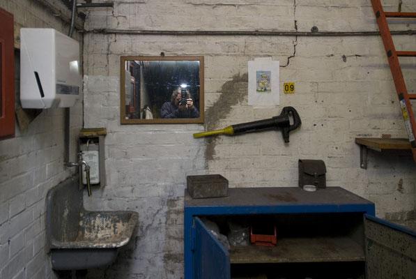 Selbstportrait in der Schachthalle
