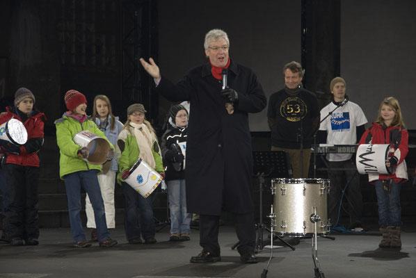 Oliver Scheytt auf der Kokereibühne, 10. Januar 2010
