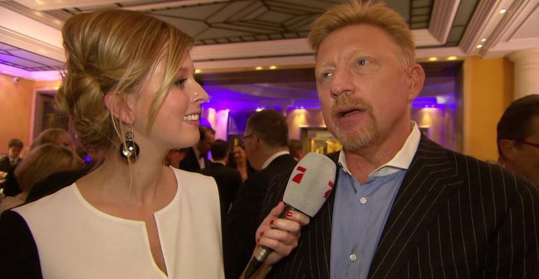 Maxi Sarwas interviewt Tennislegende Boris Becker