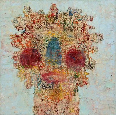 FACIES  - oil on canvas - 50 x 40 cm