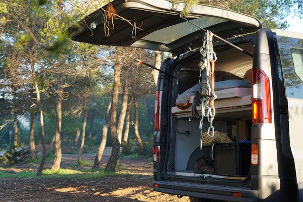 Mit dem Camper Van auf Klettertour