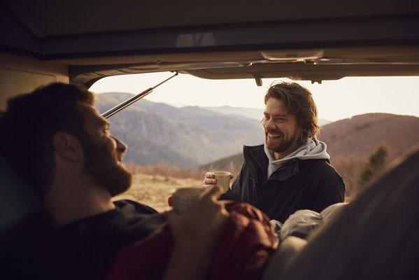 Freizeit mit dem Camping Van