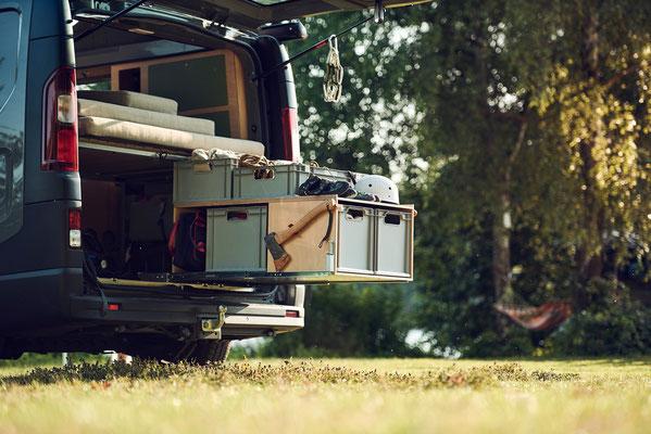 Unser Campingbus Heckauszug