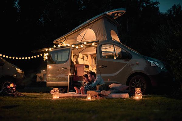 Romantische Abende mit dem Campingbus