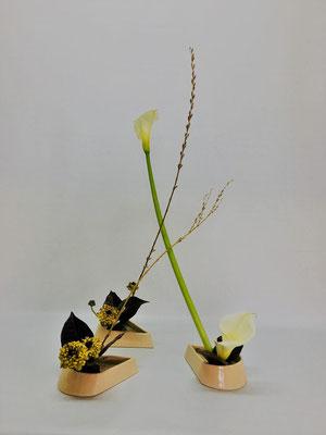 3/13<行李柳 カラー ラナンキュラス クロトン> Kumikoさんの作品です。