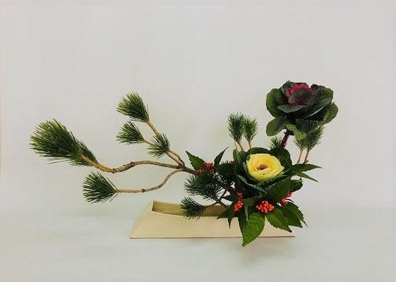 <小松 葉牡丹 千両> Teikoさんの作品です。
