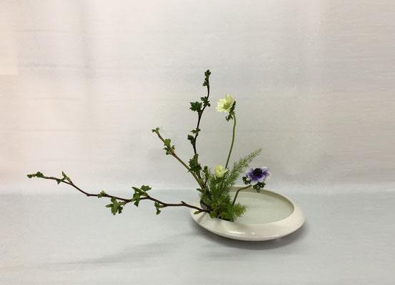 <芽出し木苺 アネモネ 天門冬(テンモンドウ)> Chiakiさんの作品です。