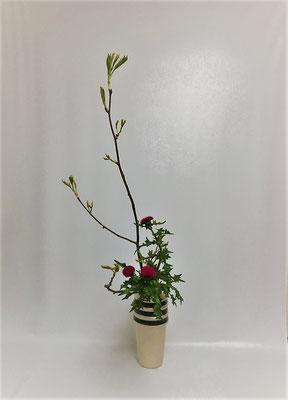 <芽出しななかまど 薊> Atsukoさんの作品です。