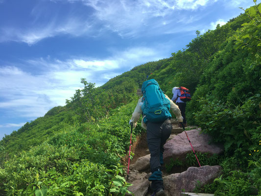 間もなく山頂です。「なんだ坂、こんな坂!」