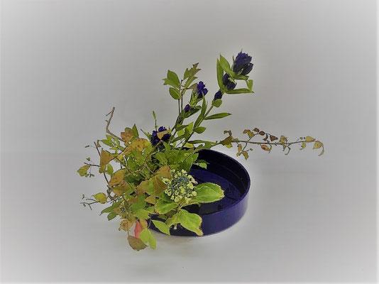 <錦木 竜胆 紫陽花> Tamikoさんの作品です。