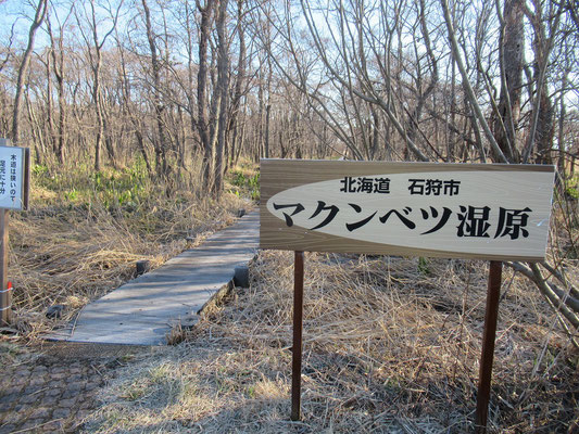 木道の入口