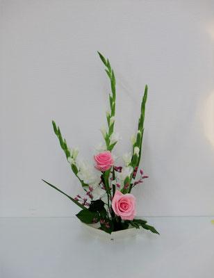 花材/グラジオラス バラ チース(スーパーレディ)