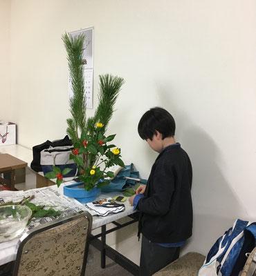 2018.12.29 Rikuくんも大きな若松を堂々といけられたと思います。