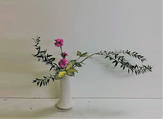 <雪柳 カーネーション ゴッドセフィアナ> Eunjuさんの作品です。