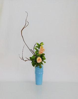 2/13<石化柳 ストック 丸葉ルスカス> Tamikoさんの作品です。