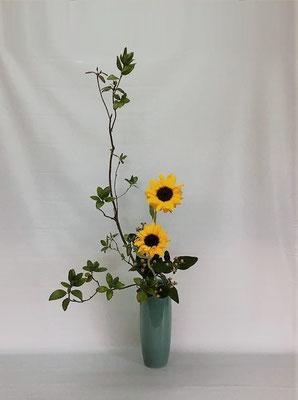 <ツツジ 向日葵 ヒペリカム> Kumikoさんの作品です。