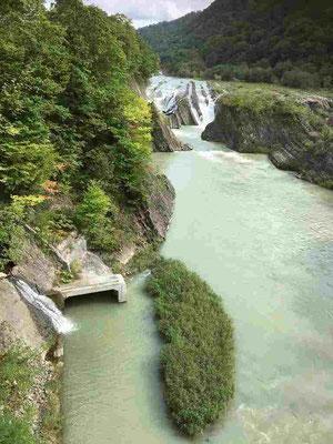 滝の上公園 吊り橋からの千鳥ヶ滝を望む景色。