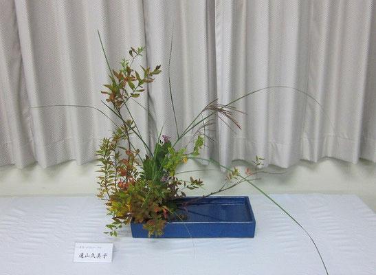 Kumiさんの作品です。写景盛花、自然本位。深まりゆく秋を感じる作品に仕上がりました。
