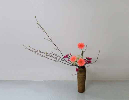 2019.5.8  <オタルモミジ ガーベラ スターチス 茴香> Akikoさんの作品です。