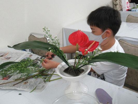 Ittsuちゃんは、ハランの葉の動きを工夫して、カッコ良くしました。