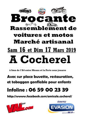 L'affiche du salon / The poster for the fair   (Cocherel 3.2019)