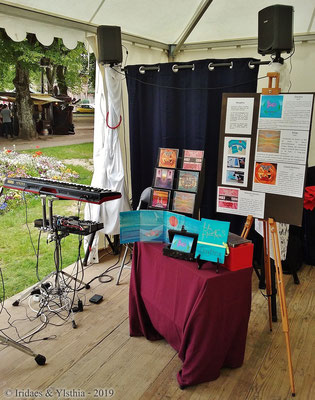 Imaginales 2019 - Le stand Ylsthia.  /  The Ylsthia stand.