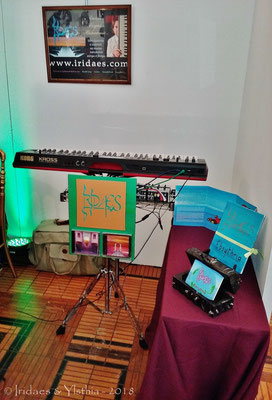 Puteaux 2018 - mon Korg Kross, installé sur le stand Ylsthia / my Korg Kross, set up at the Ylsthia stand