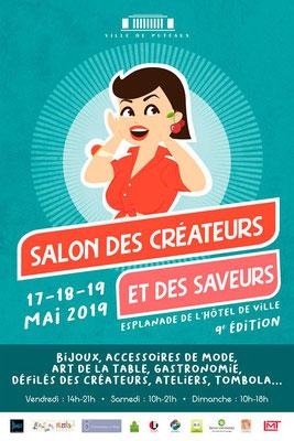 Puteaux - 5.2019 :   L'affiche du Salon des Créateurs.  /  The poster for the arts and crafts fair.